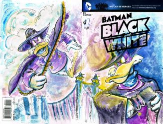 Darkwing Close up Sketch Cover by mannycartoon