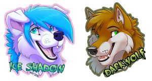 Iceshadow Badges by Ifus