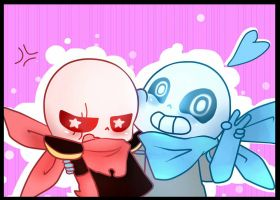 Swapfell sans and swaptale sans  by Toreshi