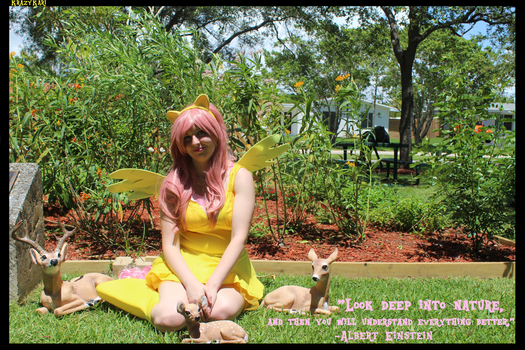 (MLP) Fluttershy Surrounded by Nature Cosplay by KrazyKari