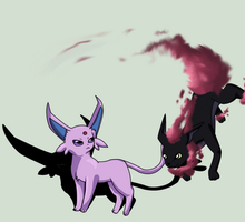 Steameon trolls Espeon by Foxymon