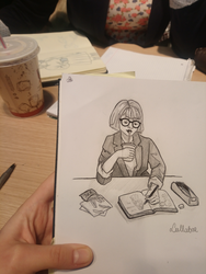Drawing with a friend by ManiaK-PL