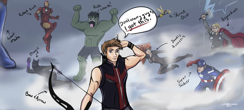 Hawkeye: I got this! by Nomati