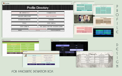 Profile Directory Layout/Com by poserfan