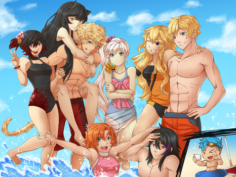 Beach PARTEH by InsertSomthinAwesome