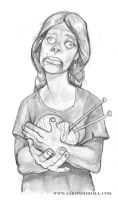 Zombie Knitter by MythAdvocate