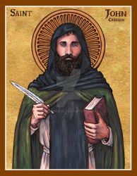 St. John Cassian icon by Theophilia