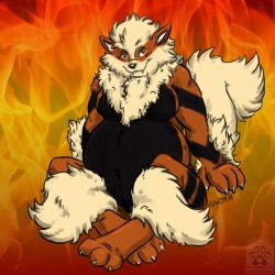 Ai the arcanine by geckoguy123456789