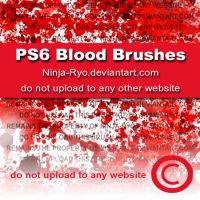 PS6 BRUSHES - Blood by Ninja-Ryo