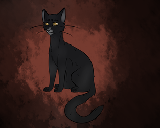 Crowpaw - Warrior Cats OC by P0is0NR4iN