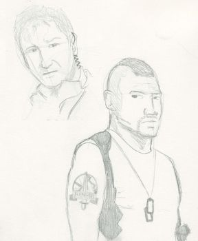 A-Team Hannibal and Baracus by DuchessNoir