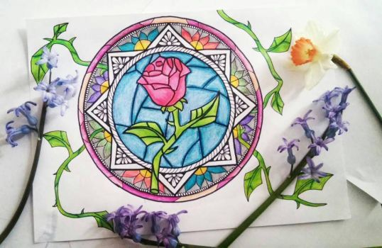Rose Mandala from Beauty and the Beast by Shoshanna94