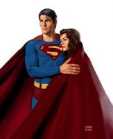 Superman and Lois by mannyclark