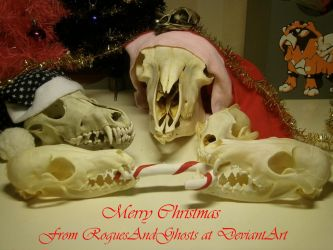 The skulls wish you a scary Christmas! by RoguesAndGhosts