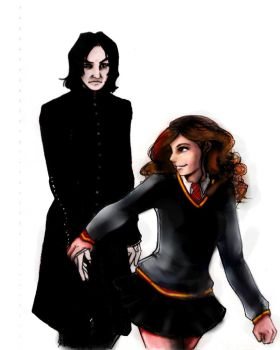Snape and Hermione unfinished by kara-lija