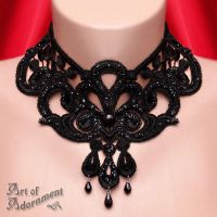 Burlesque Venezia Lace Choker by ArtOfAdornment