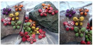 Wire Wrapped Colorful Butterfly Pendants by DaisyLeeDesigns
