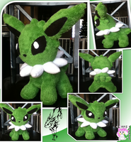 Chibi Standing Shiny Jolteon Plushie by Ami-Plushies