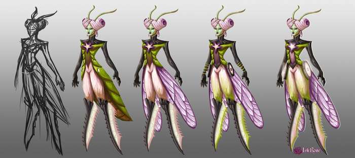 Elderwood Camille Concepts (LoL Fan Skin) by InkRose98