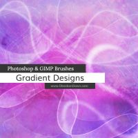 Gradient Designs Photoshop and GIMP Brushes by redheadstock
