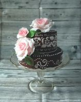 Wedding Cake 'Roses' by ginkgografix