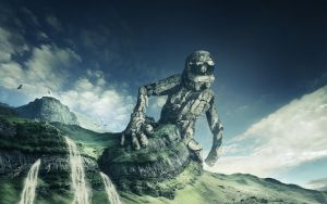 Stone Giant Desktop by HjalmarWahlin