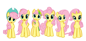Fluttershy-ified by Gelay-Gulay