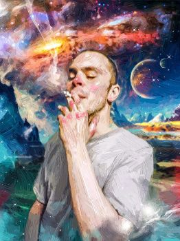 cosmic smoker by fromNeverlend