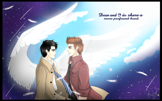Supernatural:Castiel and Dean [SPEEDPAINT] by Ralunix