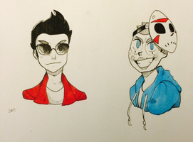 Vanoss and Delirious by Elli-Blue