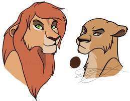 The Lion King - Offspring of an unexpected pair by Zandwine