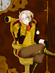 APH: Steampunk much? by ScafrenLegana