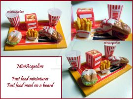 Miniature Fast food meal by miniacquoline