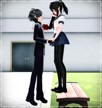 MMD-Yandere Simulator-This is better. by Stefy5000