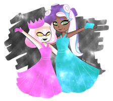 Galaxy Pearl and Marina by ellenent