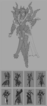 Alexstrazsa Redesign Linework and Thumbs by Zephyri