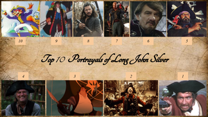 Top 10 Portrayals of Long John Silver by JJHatter