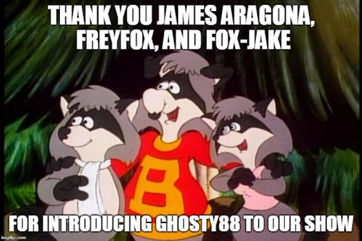 The Raccoons Say Thank You by Ghosty88