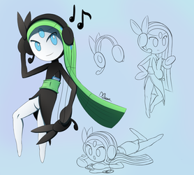 Meloetta Stereo Headset by DarkyBenji