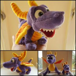 Super Rare Open Mouth Spyro Plush Toy! by frozendragonflames