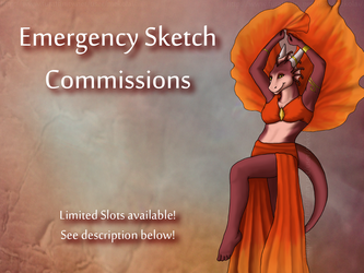 Sketch Commissions available by DragonnessMekolai