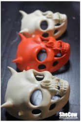 Skull Mask by SheCow