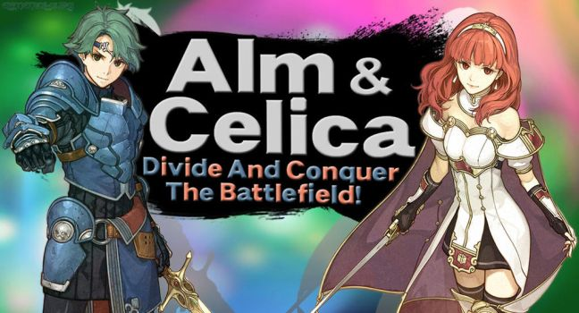 Alm and Celica SSBU request by Elemental-Aura