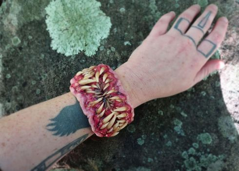 Tooth beast cuff bracelet 10/2016 by dogzillalives