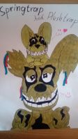 Springtrap and Plushtrap by The-Trashy-Sloth