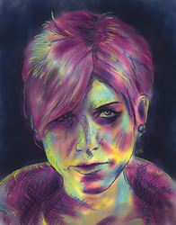 Fetch - The Lady in Neon by nthomas-illustration