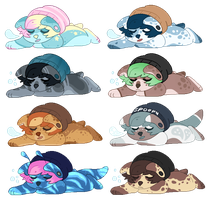 Sleepy Cuties 2 - Adopts (5/8 OPEN) by all-type-adopts