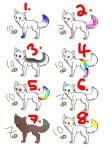 Wolf adoptables 10 points each by thisistheonlyme