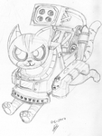 Supersonic Tank Cats: Whisky Sketch by molegato