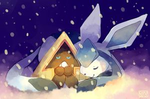 [Pokeddexxy] Day 12 - Snorunt and Glaceon by ChocoChaoFun